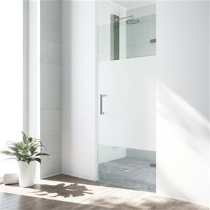 """Porte de douche sans cadre «Soho», 28"""" x 26"""" x 70"""", verre"""