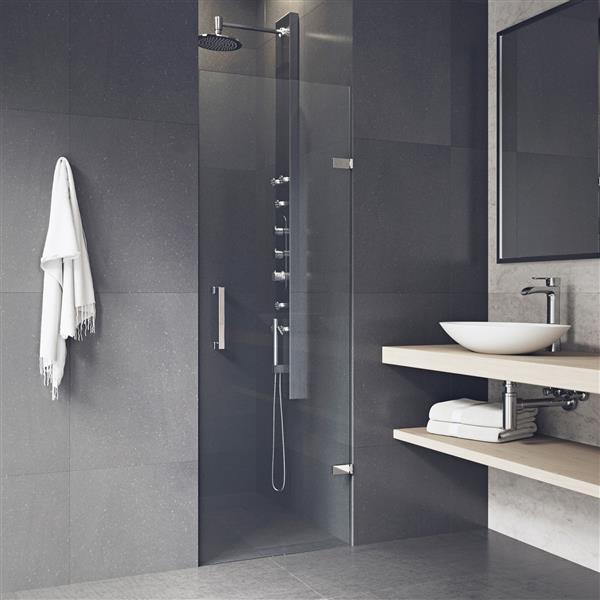 VIGO Soho Frameless Shower Door - 24-in x 22-in x 70-in - Clear Glass