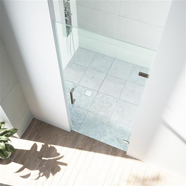 VIGO Soho Frameless Shower Door - 28-in x 26-in x 70-in - Clear Glass