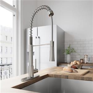 Vigo Laurelton Pull-Down Spray Kitchen Faucet - Stainless