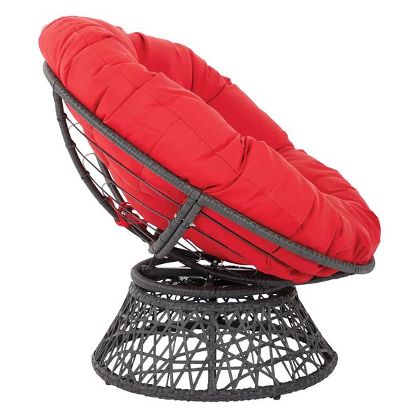 OSP Designs Papasan Fabric Lounge Chair - 1 Place - Red