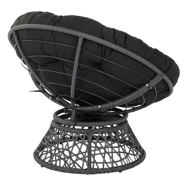 OSP Designs Papasan Fabric Lounge Chair - 1 Place - Black