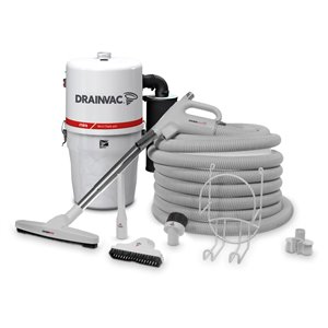 Drainvac Compact Central Vacuum with Accessory Kit - 17 L