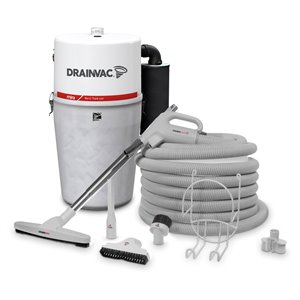 Drainvac Central Vacuum Cleaner with Accessory Kit - Large capacity - 41 L