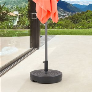 CorLiving Round Umbrella Base with Steel-Lined Attachment Piece