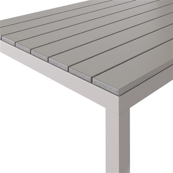 "CorLiving Outdoor Square Dining Table - Light Grey - 31""x31"""