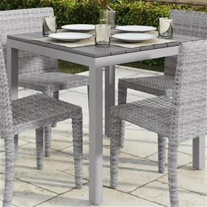 Table de patio CorLiving carrée, gris clair, 31