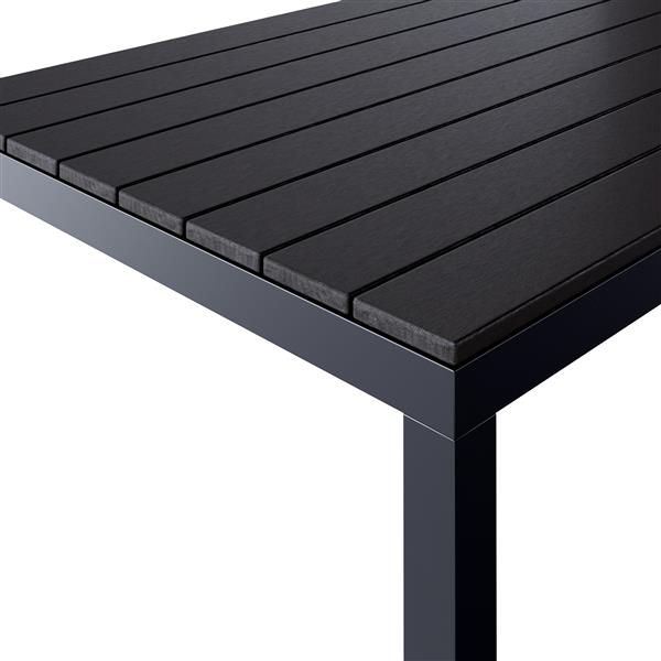 "CorLiving Square Outdoor Dining Table - Black - 31"" x 31"""