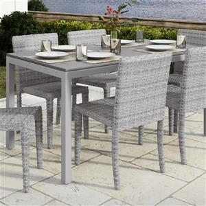 "CorLiving Outdoor Dining Table - Light Grey - 31"" x 59"""
