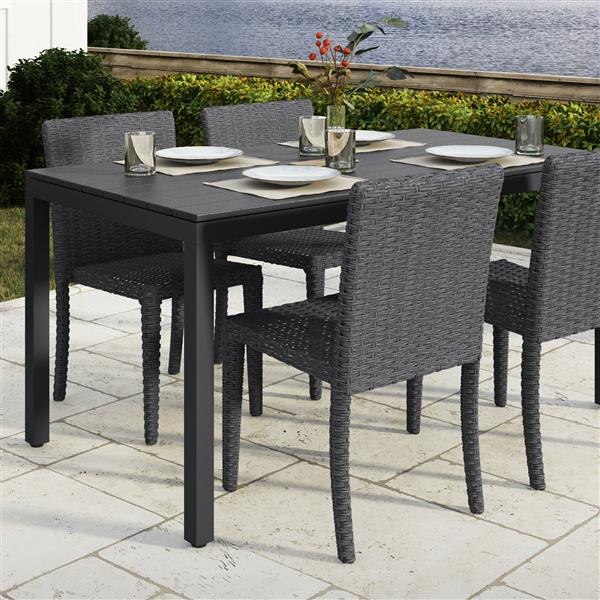 """CorLiving Outdoor Dining Table - Black - 31"""" x 59"""""""