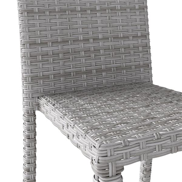 CorLiving Rattan Wicker Dining Chairs - Blended Grey - Set of 2