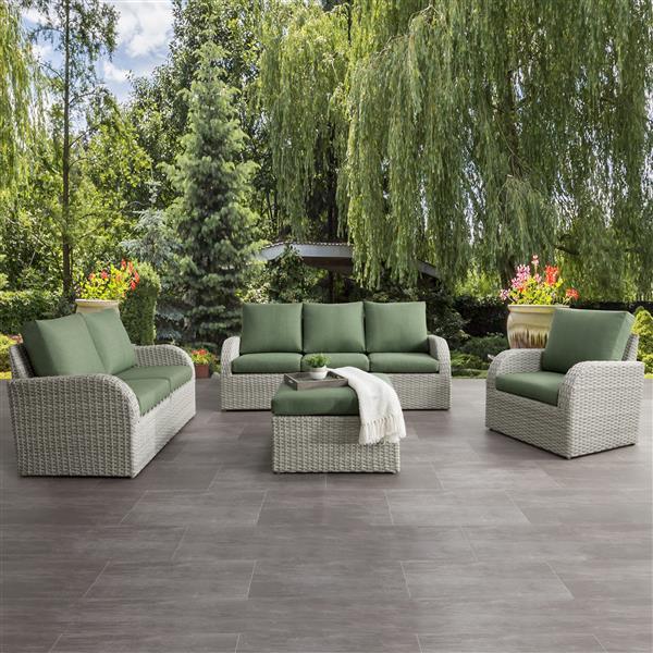 Corliving Patio Conversation Set, Green Patio Furniture