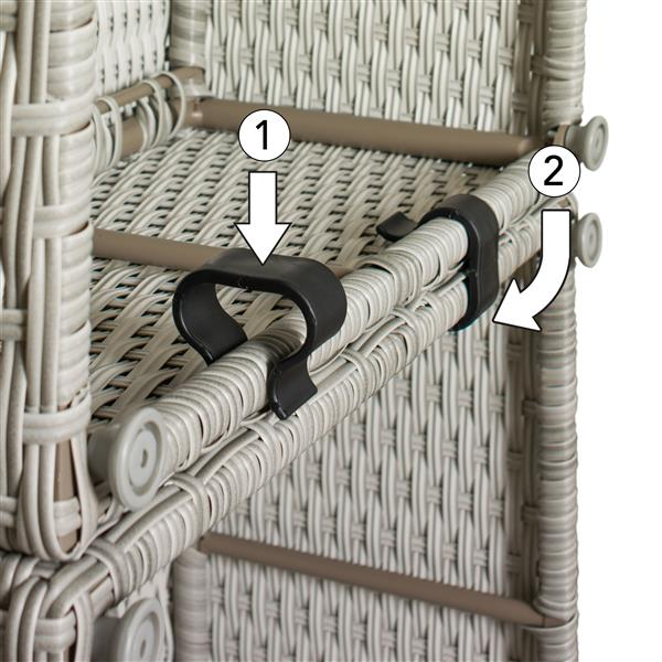 CorLiving Corner Sectional Patio Set, Blended Grey / Light Grey - 6pc