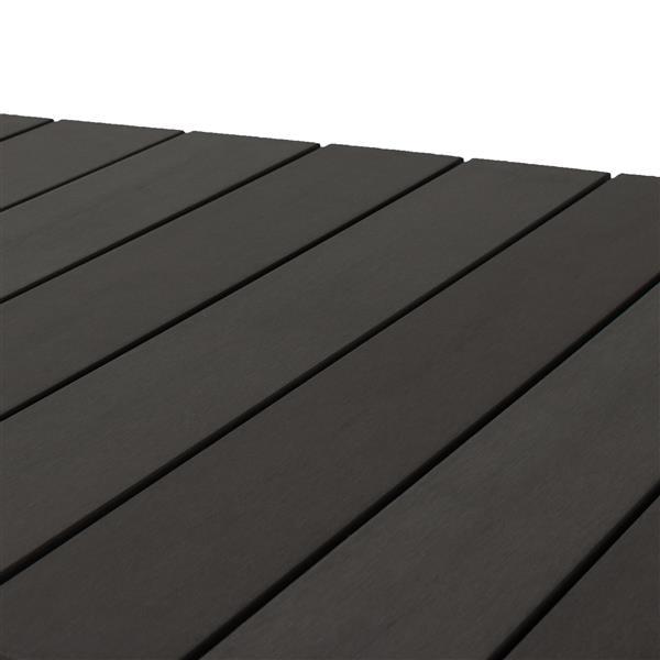 Ensemble de patios incurvé, charbon délavé et gris, 5 mcx