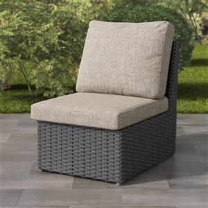 """CorLiving Charcoal Grey Resin Wicker Armless Patio Chair - Grey - 24"""""""