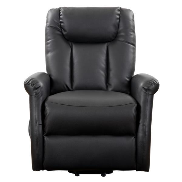 CorLiving Power Lift and Rise Recliner, Black Leather Gel