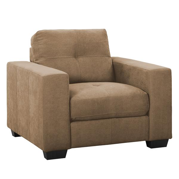 CorLiving Brown Tufted Chenille Fabric Chair