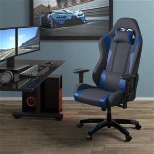 Fauteuil de jeux ergonomique de CorLiving, gris et bleu