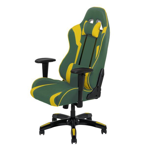 CorLiving High Back Ergonomic Gaming Chair - Green & Yellow