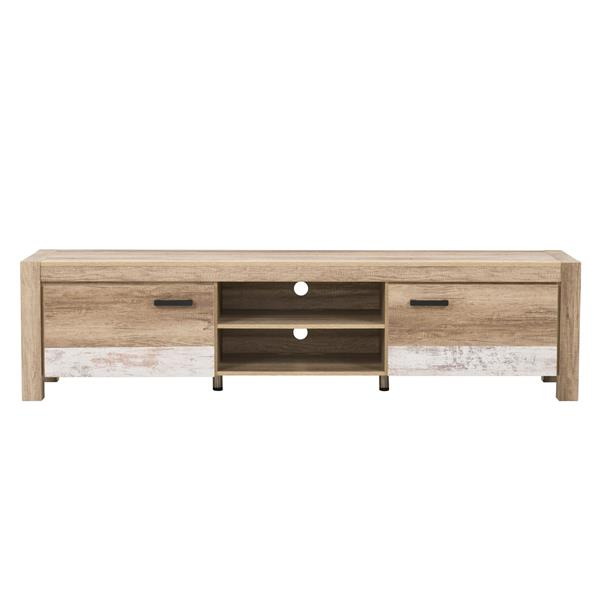 CorLiving TV Stand - Warm Beige with White - TVs up to 90""