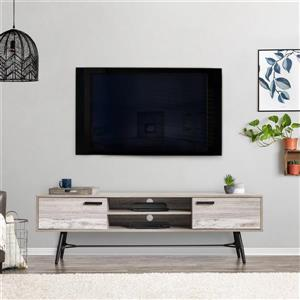 CorLiving TV Stand - Grey with White - TVs up to 80