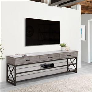 CorLiving TV Stand -Whitewash Grey - TVs up to 90