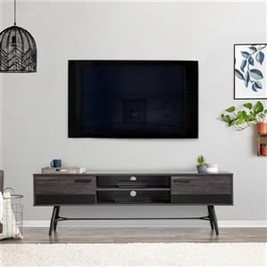 CorLiving TV Stand - Grey with Black - TVs up to 80