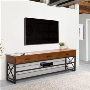 CorLiving TV Stand - Antique Cherry Brown - TVs up to 90