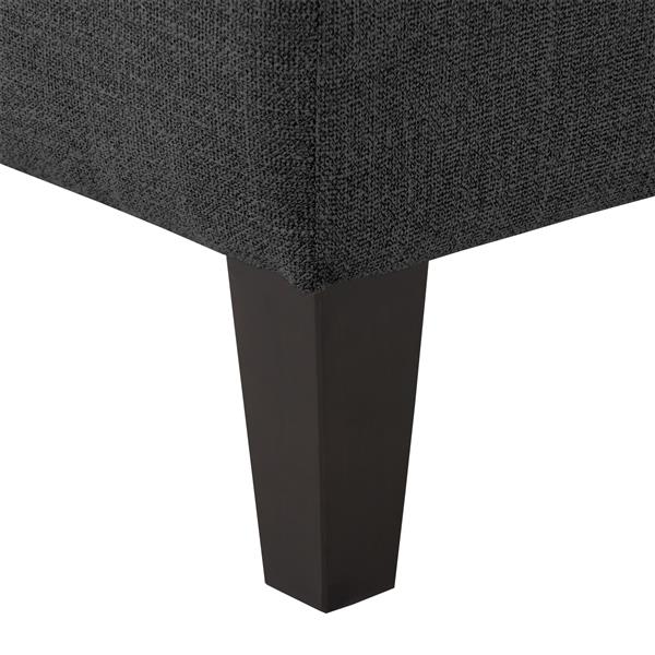 """CorLiving Tufted Accent Bench - Dark Grey Fabric - 52"""""""