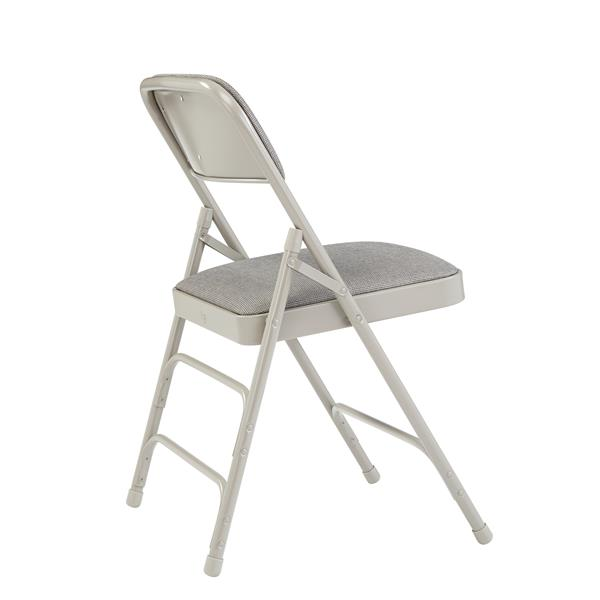 National Public Seating Fabric Padded Folding Chair - 2300 Series - Grey - 4-Pack