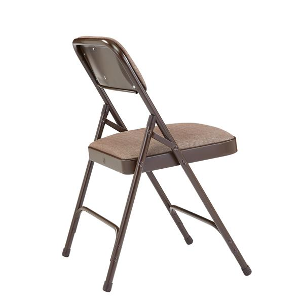 National Public Seating Fabric Padded Folding Chair - 2200 Series - Walnut - 4-Pack