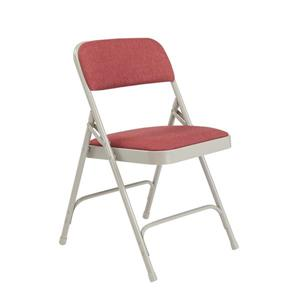 Fabric Padded Folding Chair - 2200 Series - Wine - 4-Pack