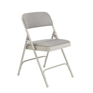 Fabric Padded Folding Chair - 2200 Series - Grey - 4-Pack