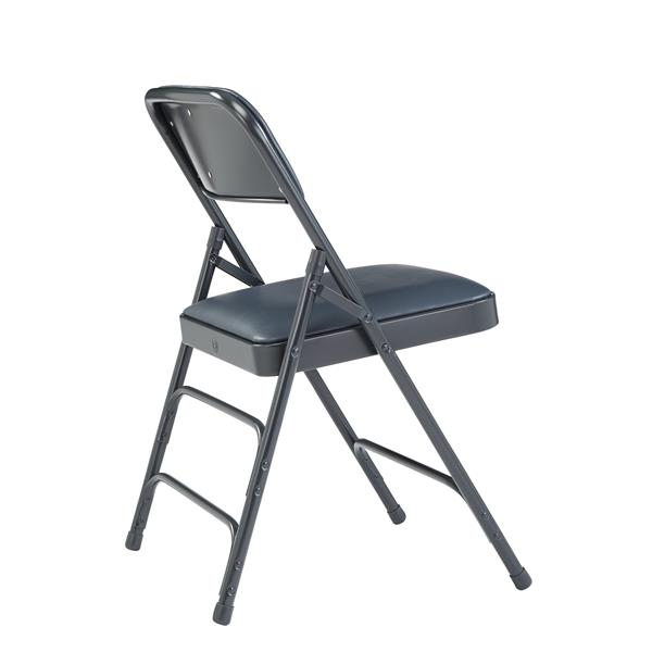 National Public Seating 1300 Series Vinyl Padded Folding Chair - Blue - 4-Pack