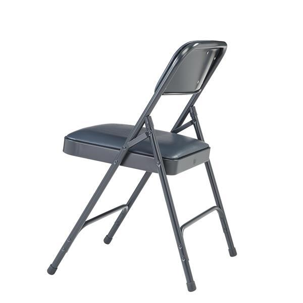 National Public Seating 1200 Series Vinyl Padded Folding Chair - Black - 4-Pack