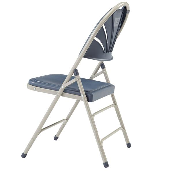 National Public Seating 1100 Series Fan Back Folding Chair - Dark Blue - 4-Pack