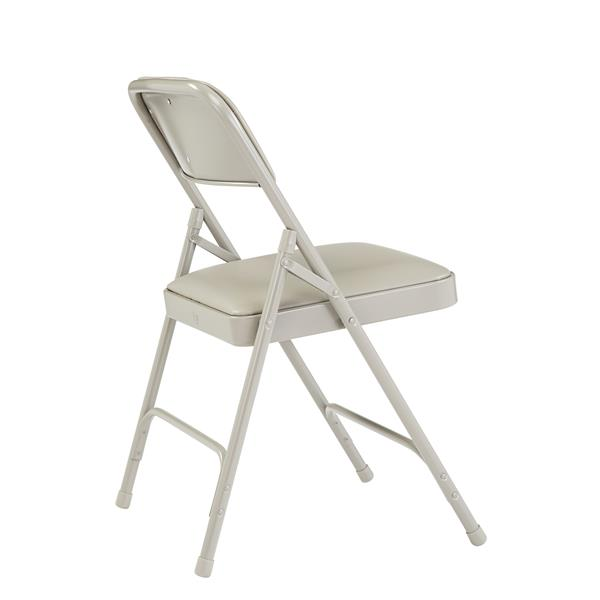 National Public Seating 1200 Series Vinyl Padded Folding Chair - Beige - 4-Pack