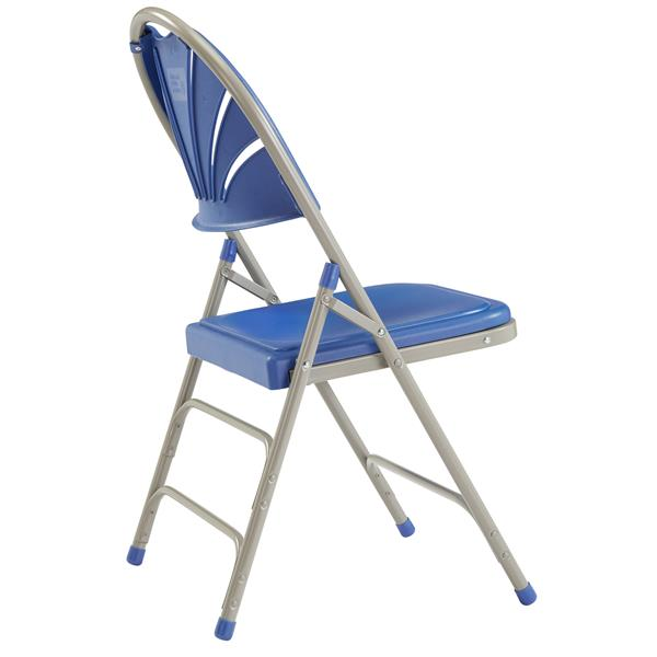 National Public Seating 1100 Series Fan Back Folding Chair - Blue - 4-Pack