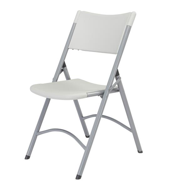 National Public Seating 600 Series Heavy Duty Folding Chair - Grey - 4-Pack