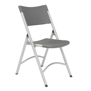 600 Series Heavy Duty Folding Chair - Charcoal - 4-Pack