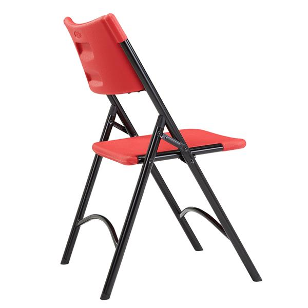 National Public Seating 600 Series Heavy Duty Folding Chair - Red - 4-Pack