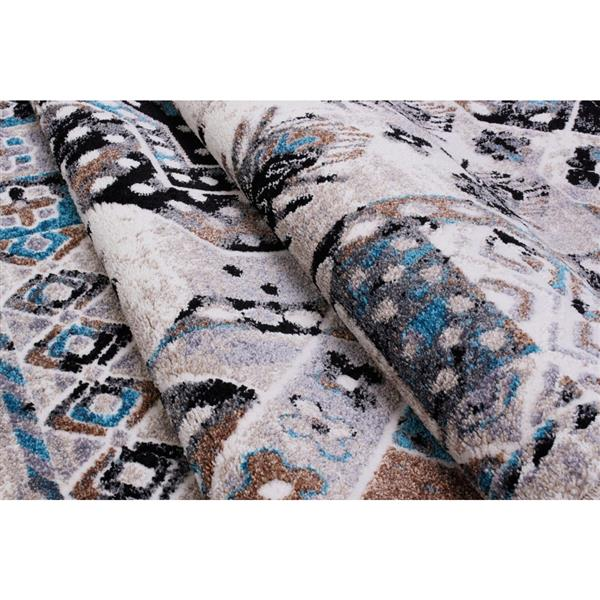La Dole Rugs®  Athens Traditional Area Rug - 2' x 3' - Grey/Turquoise