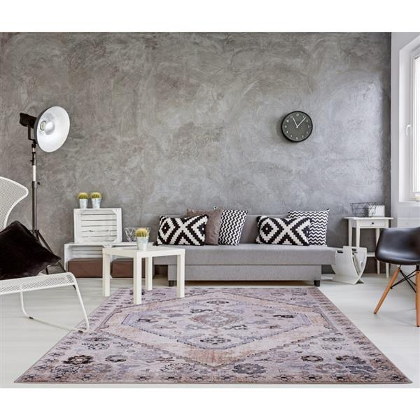 La Dole Rugs®  Chania Traditional Area Rug - 5' x 8' - Beige/Cream