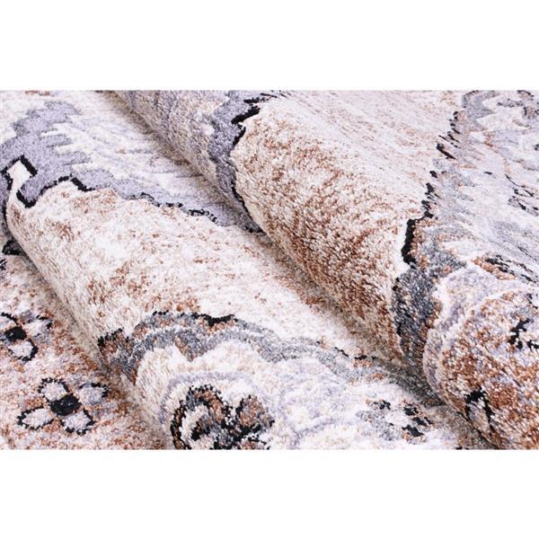 "La Dole Rugs®  Chania Traditional European Area Rug - 2' x 3"" - Beige/Cream"