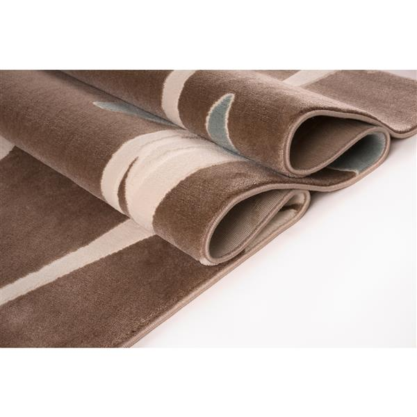 La Dole Rugs®  Floral Pattern Rectangular Area Rug - 8' x 11' - Brown