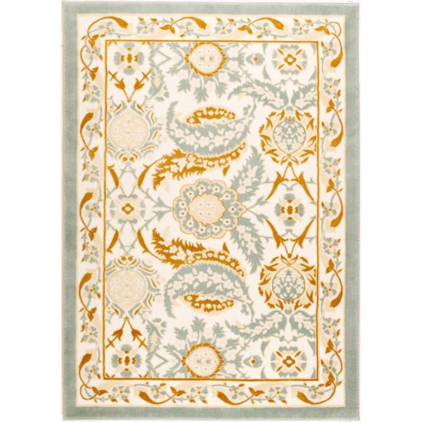 La Dole Rugs® Rectangular Abstract Traditional Area Rug - 4' x 6' - Beige