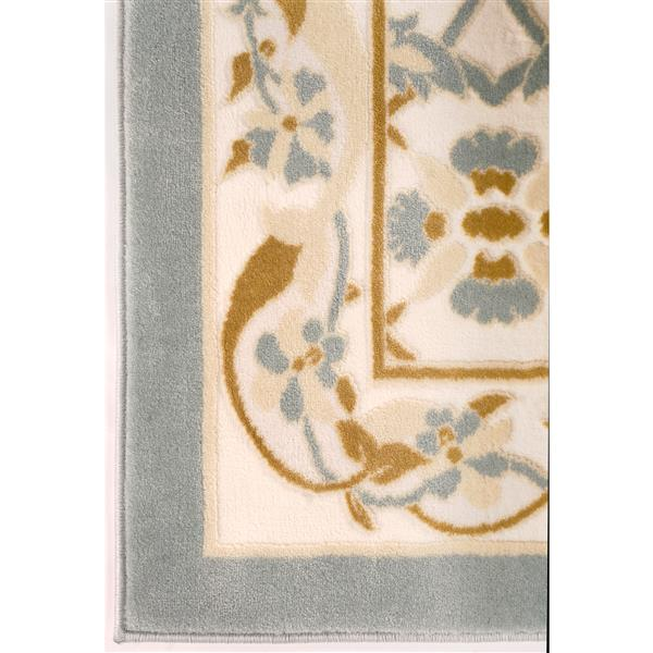 La Dole Rugs® Rectangular Abstract Traditional Area Rug - 7' x 10' - Beige