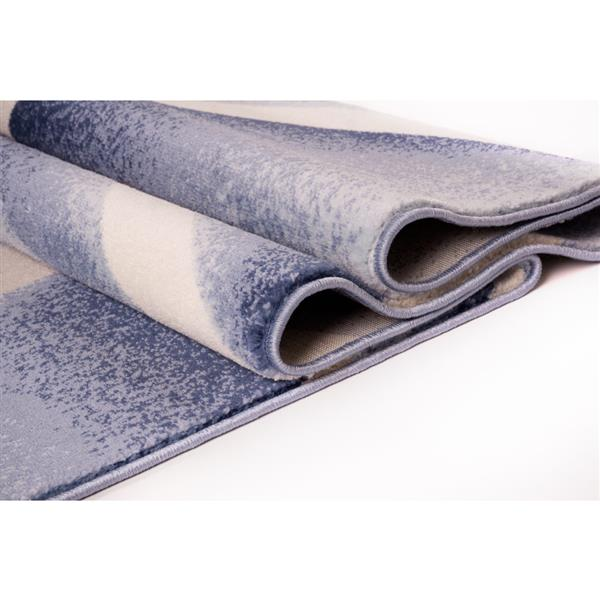 La Dole Rugs®  Anatolia Abstract Geometric Area Rug - 4' x 5' - Blue/Beige