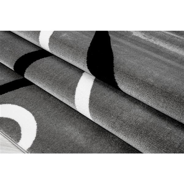 Tapis turque rectangulaire, 5' x 8', gris clair