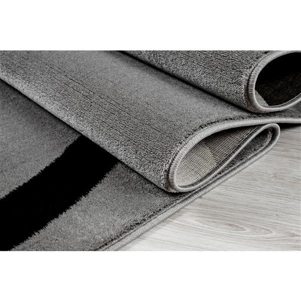 Tapis turque rectangulaire, 2' x 3', gris clair
